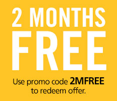 2 Months free Promo